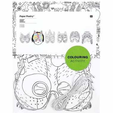 X maskers om te kleuren kinderen carnavalskleding den bosch