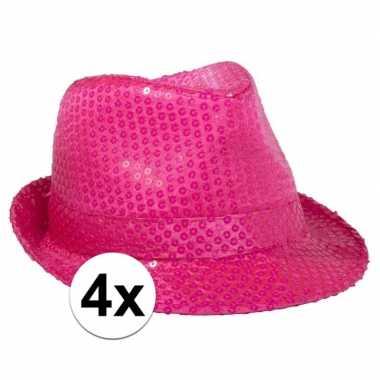 X neon roze toppers hoedje carnavalskleding den bosch