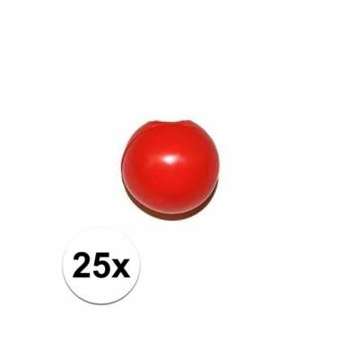 X rode clowns neus/neuzen zonder elastiek carnavalskleding den bosch