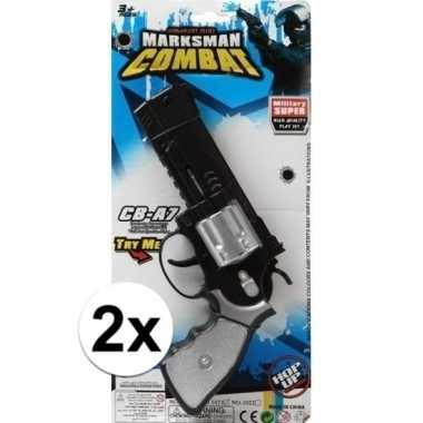 X stuks speelgoed pistolen combat /politie carnavalskleding den bosch