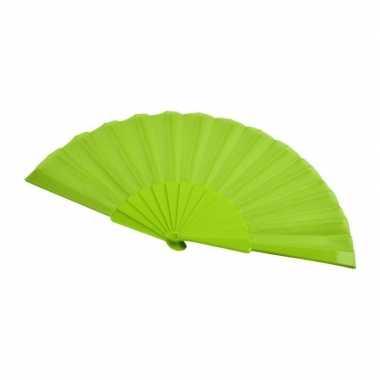 X stuks zomerse spaanse waaiers lime groen carnavalskleding den bosch