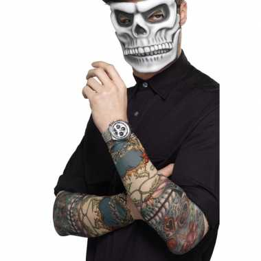 X tattoo sleeves day of the dead volwassenen carnavalskleding den bos