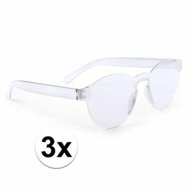X transparante feestbril volwassenen carnavalskleding den bosch