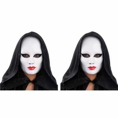X wit mensen gezicht masker carnavalskleding den bosch