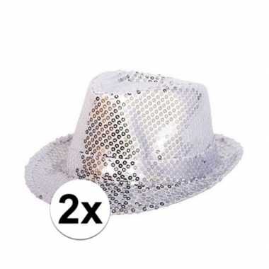 X zilveren glitter hoedjes pailletten carnavalskleding den bosch