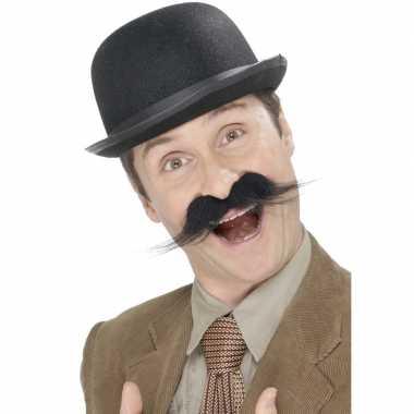 Carnavalskleding zelfklevende detective snor