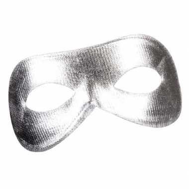 Zilver mysterieus oogmasker glimmend dames carnavalskleding den bosch