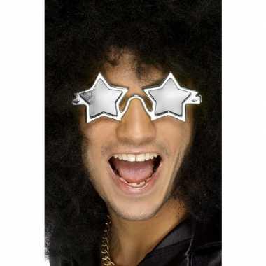 Zilveren discobril sterren volwassenen carnavalskleding den bosch