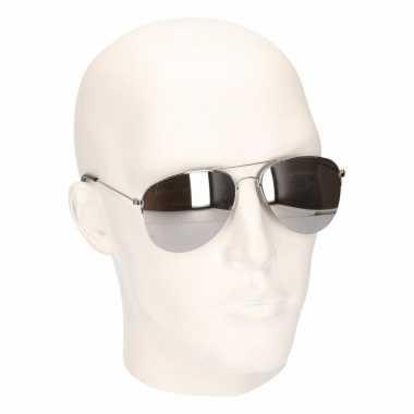 Zilveren politiebrillen model carnavalskleding den bosch