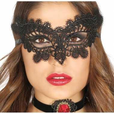 Zwart gemaskerd bal oogmasker dames carnavalskleding den bosch