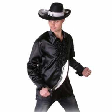 Carnavalskleding zwart heren piraten overhemd