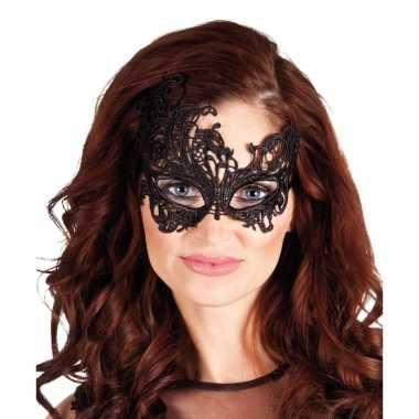 Zwart mysterieus oogmasker dames carnavalskleding den bosch