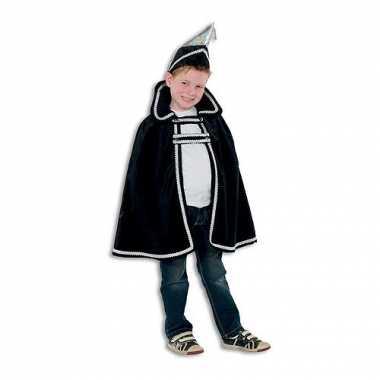 Zwart Prins carnaval kinder cape hoed carnavalskleding Den Bosch