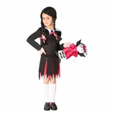 Zwart schoolmeisje jurkje meisjes carnavalskleding den bosch