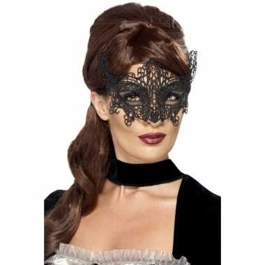 Zwart venetiaans oogmasker dames carnavalskleding den bosch