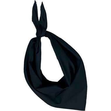 Zwarte basic bandana/hals zakdoeken/sjaals/shawls volwassenen carnava