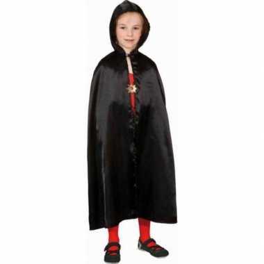 Carnavalskleding zwarte cape kinderen