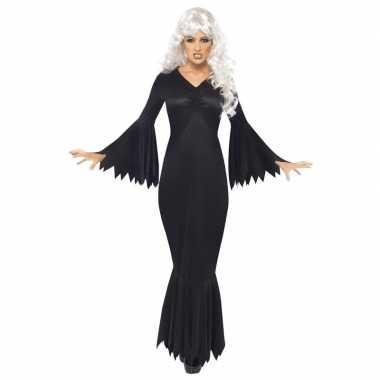 Zwarte horror vampier jurk dames carnavalskleding den bosch