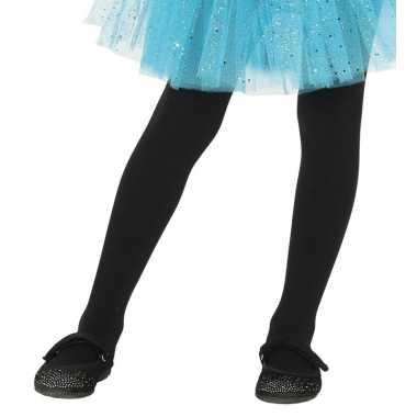 Zwarte kinder panty jaar carnavalskleding den bosch