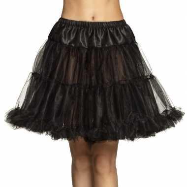 Zwarte lange petticoat dames carnavalskleding den bosch