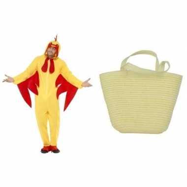 Gele paaskip carnavalskleding maat l mandje dames/heren den bosch