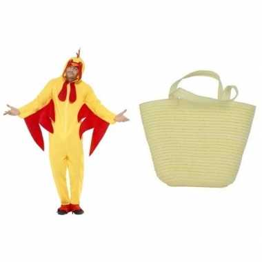 Gele paaskip carnavalskleding maat m mandje dames/heren den bosch