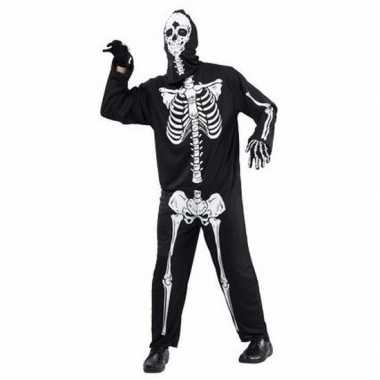 Geraamte skeletten carnavalskleding volwassenen