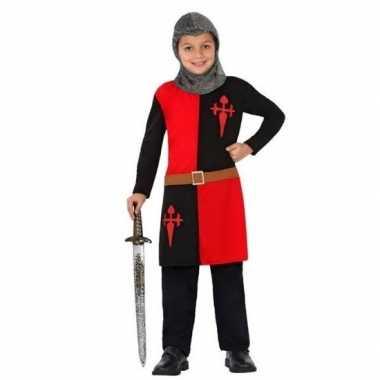 Goedkope ridder carnavalskleding rood jongens/meisjes den bosch