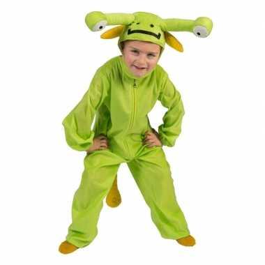 Groen alien verkleed carnavalskleding kinderen den bosch