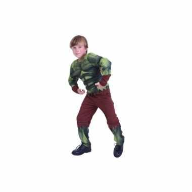 Groen gespierd monster carnavalskleding jongens Den Bosch