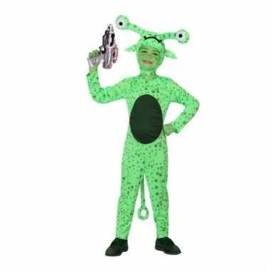 Groene alien carnavalskleding space gun maat den bosch
