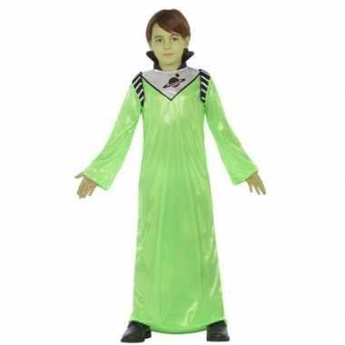 Groene alien koning zharor carnavalskleding jongens den bosch