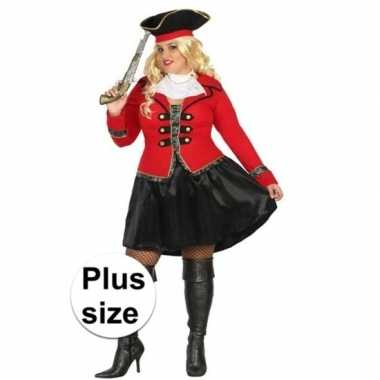 Grote maat piraten carnavalskleding kapitein grace dames den bosch