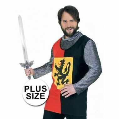Grote maat ridder carnavalskleding Den Bosch