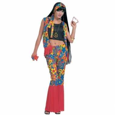 Hippie flower power carnavalskleding vrouwen