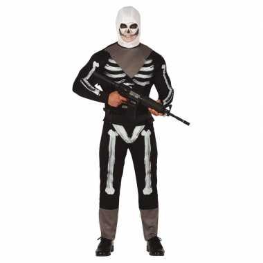 Horror skelet soldaat verkleed carnavalskleding heren den bosch