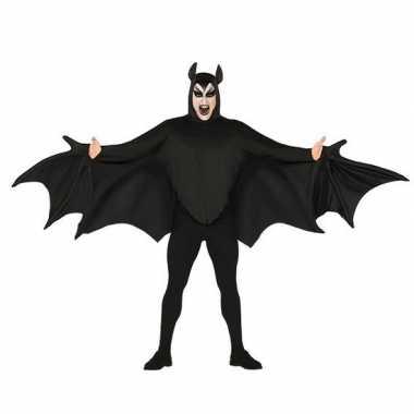 Horror vleermuis verkleed carnavalskleding zwart heren den bosch