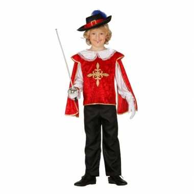 Musketiers carnavalskleding jongens rood den bosch