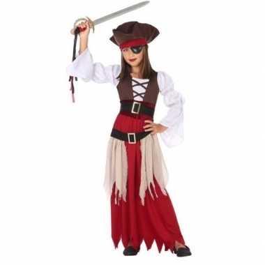 Piraten jurk/carnavalskleding meisjes den bosch