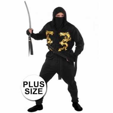 Plussize ninja carnavalskleding heren den bosch