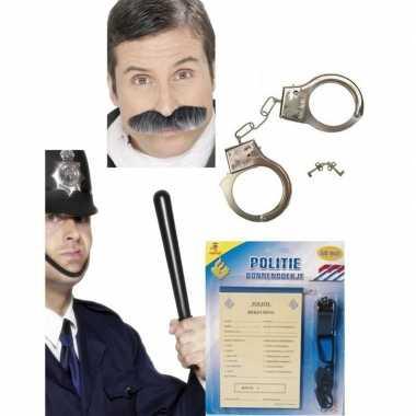 Politie verkleed accessoires carnavalskledingket den bosch
