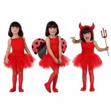 Rood ballet carnavalskleding meisjes Den Bosch