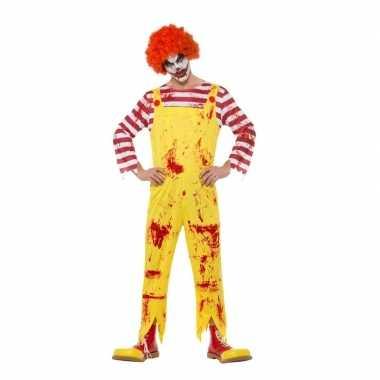 Rood/gele horror clown carnavalskleding heren den bosch
