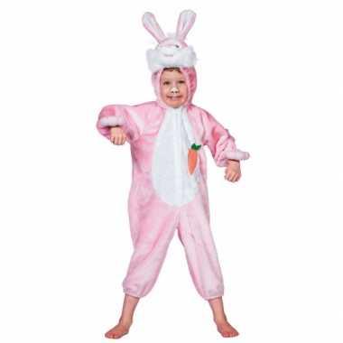 Roze konijnen carnavalskleding kinderen Den Bosch