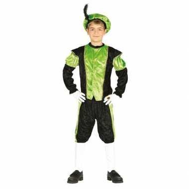 Sinterklaas thema carnavalskleding/carnavalskleding zwart groen kinde