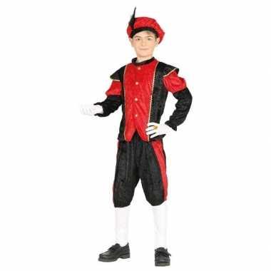 Sinterklaas thema carnavalskleding/carnavalskleding zwart rood kinder