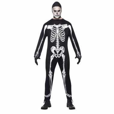 Skelet carnavalskleding zwart/wit volwassenen den bosch