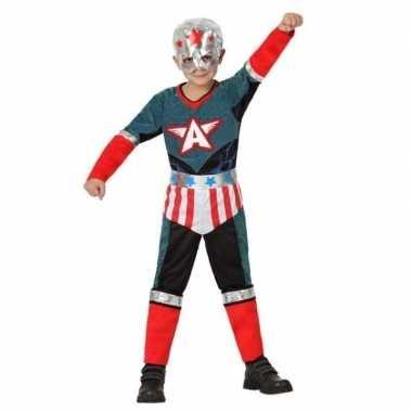 Superhelden usa carnavalskleding jongens bosch