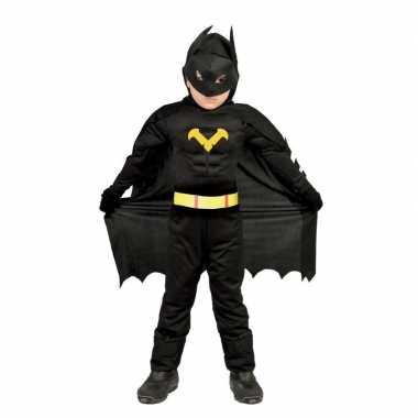 Superhelden vleermuis carnavalskleding jongens zwart bosch