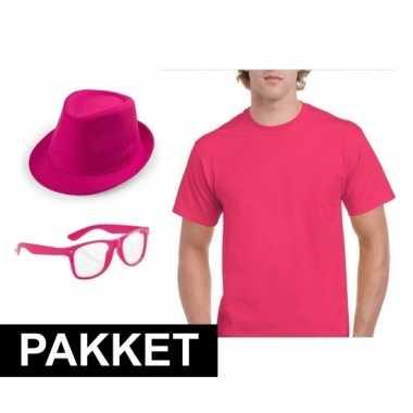 Verkleed carnavalskledingket mannen roze den bosch
